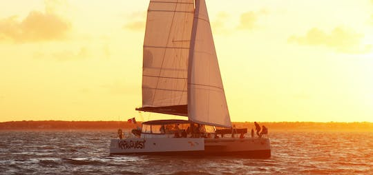 A 2-hour sunset catamaran experience from La Rochelle