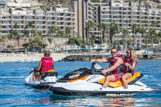 Jet Ski Anfi del Mar beach with transfer