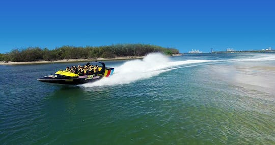 Premium broadwater adventure jet boat ride