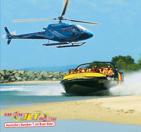 Jet boat and 5-minute helicopter ride combo