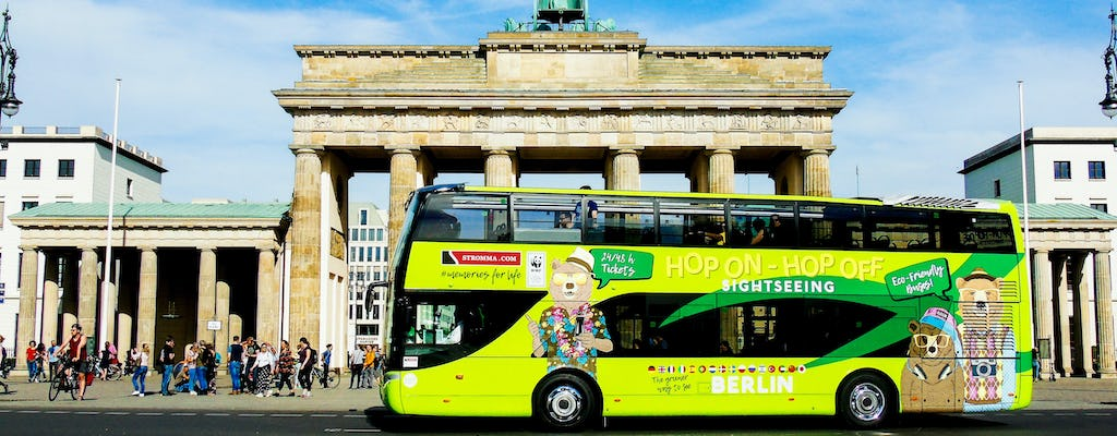Hop-on hop-off Sightseeing by bus for 24 or 48-hours in Berlin