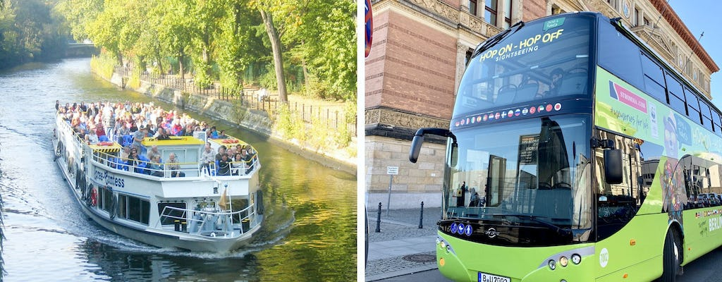 Hop-on hop-off bus and boat tour of Berlin for 24 or 48-hours