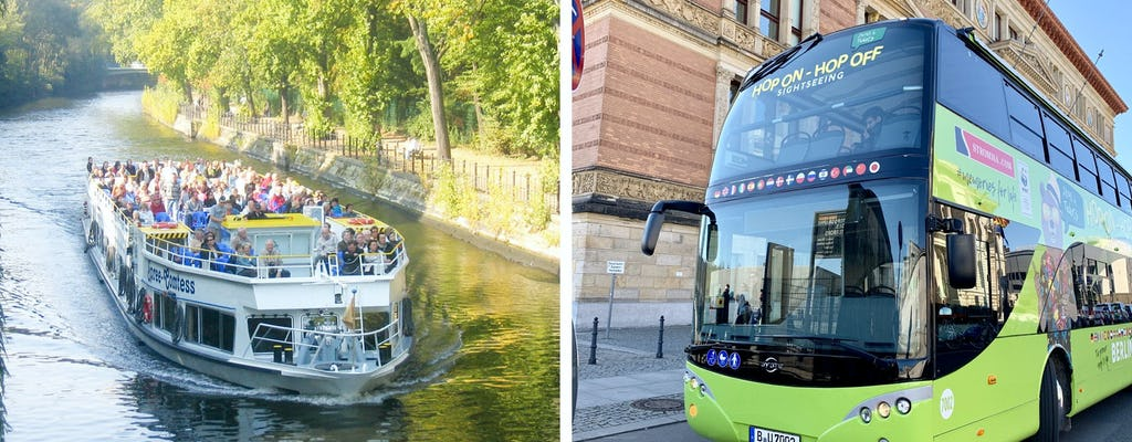 Tour hop-on hop-off in autobus e in barca a Berlino per 24 o 48 ore