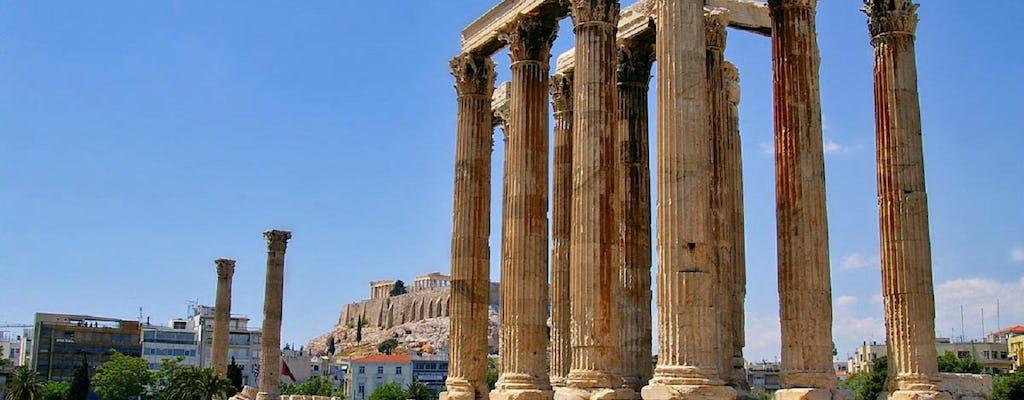Visita y juego de exploración de la ciudad de la mitología griega de Atenas