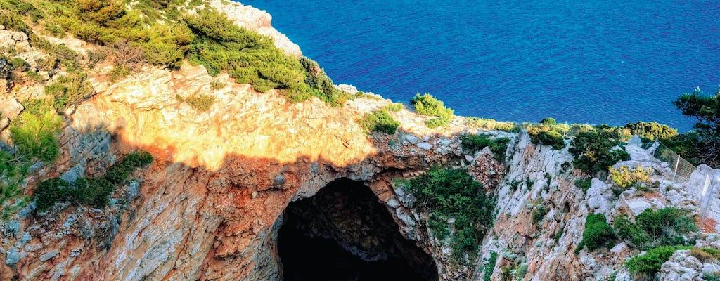La grotte d'Ulysse au départ de Mljet