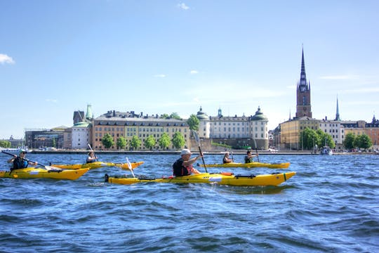 Stockholm city evening kayak tour
