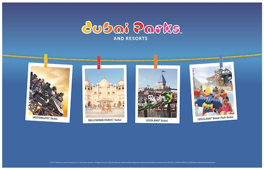 Dubai Parks combo tickets with optional Q-fast