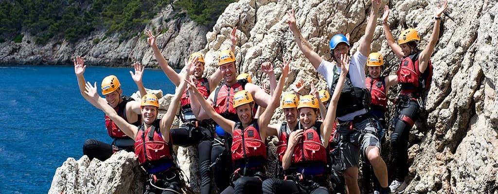 Coasteering adventure activity