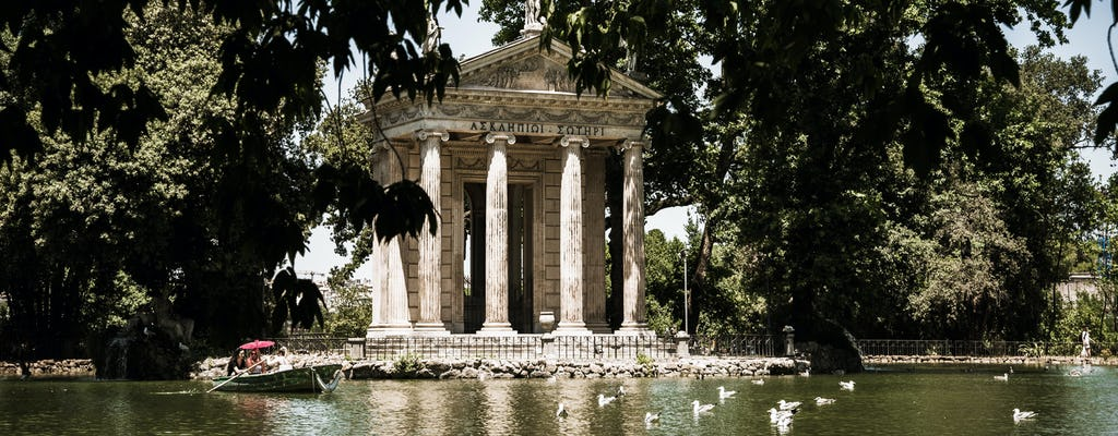 Villa Borghese e áreas elegantes de Roma