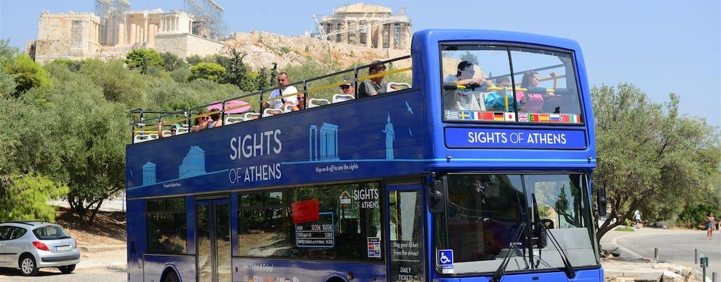 Ônibus hop-on hop-off combinado em Atenas, Pireu e praias