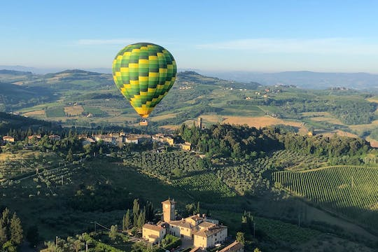Hot air balloon ride over Chianti in Tuscany