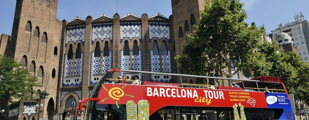 Barcelona city tour hop-on hop-off bus tickets