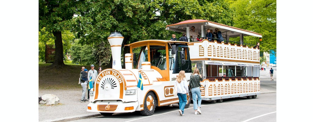 Royal Djurgarden tour in Europe's biggest sightseeing train