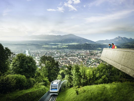 Funicular round trip from Innsbruck to Hungerburg
