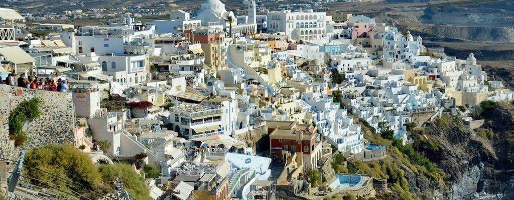 Tour a piedi della città di Fira a Santorini