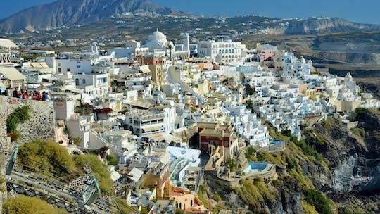 Wycieczka piesza po mieście Fira na Santorini