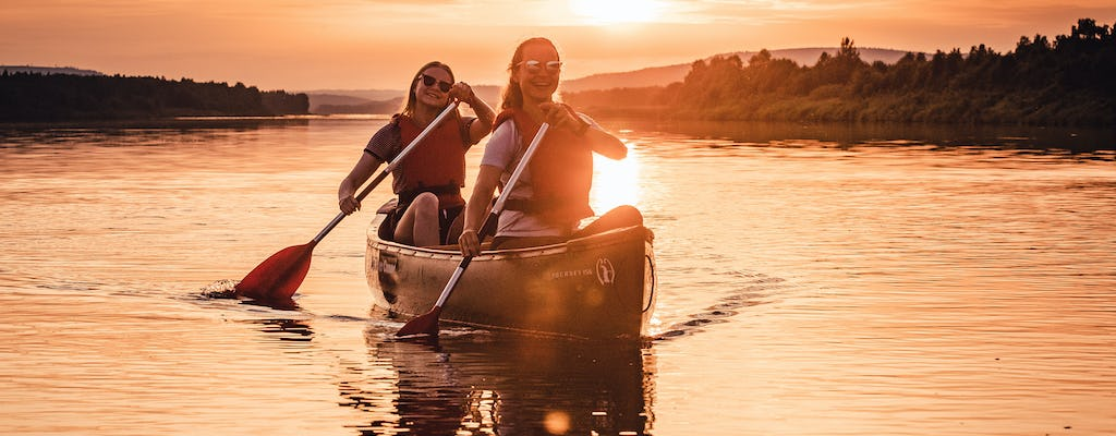 River canoeing adventure in Rovaniemi