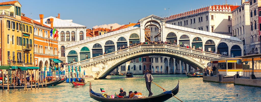 Full-day trip from Rome to Venice by high-speed train with hop-on-hop-off boat service