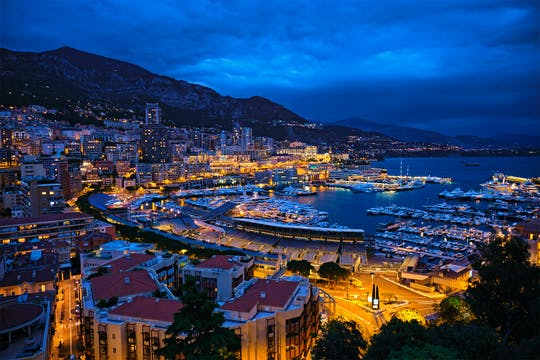Tour durch Monaco bei Nacht von Nizza