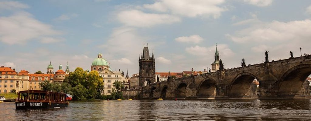 Oude stad van Praag, riviercruise en sightseeingtour naar het kasteel van Praag, inclusief lunch