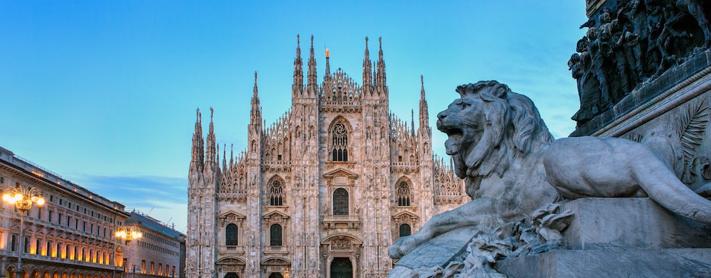 Full-day trip from Rome to Milan by high-speed train with hop-on-hop-offbus service