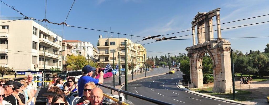 Bilet wstępu bez kolejki do Partenonu i na Akropol oraz wycieczka Hop-On Hop-Off po Atenach, Pireusie i plażach