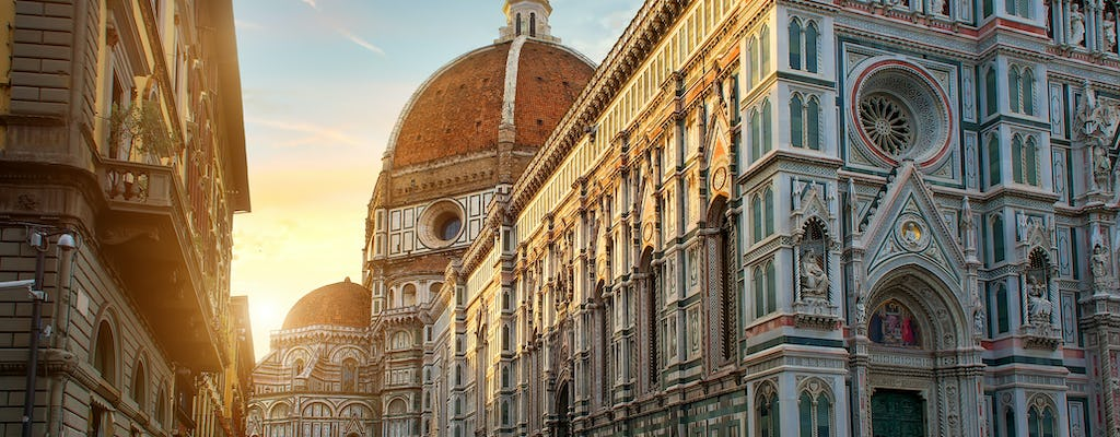 Full-day trip from Rome to Florence by high-speed train with hop-on-hop-offbus service