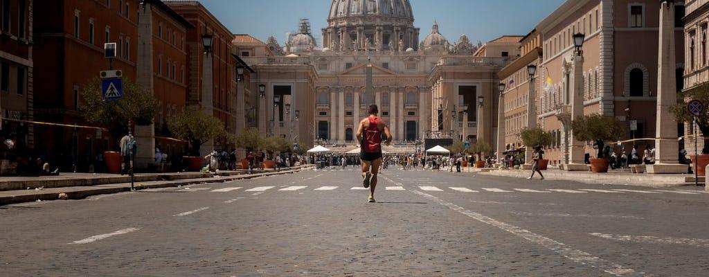 Adventure running tour through the Eternal City