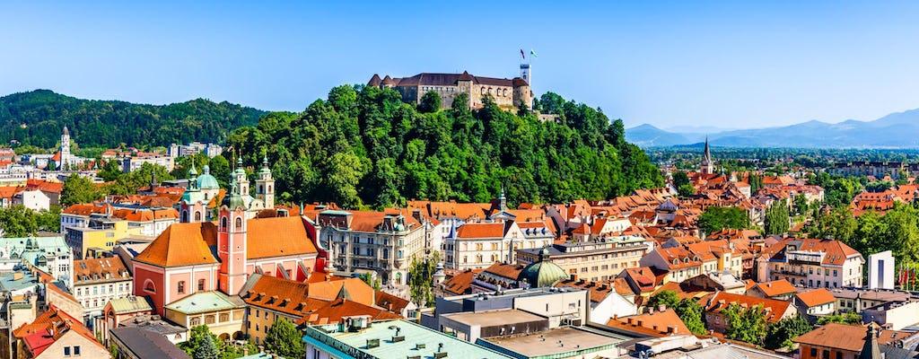 Tour della città di Lubiana e castello da Bled