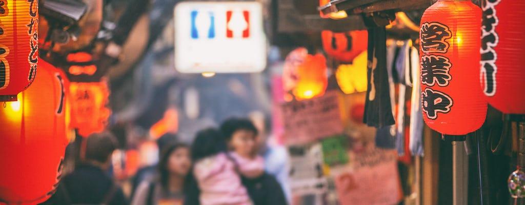 Avondwandeling door Tokio met eten door Shimbashi