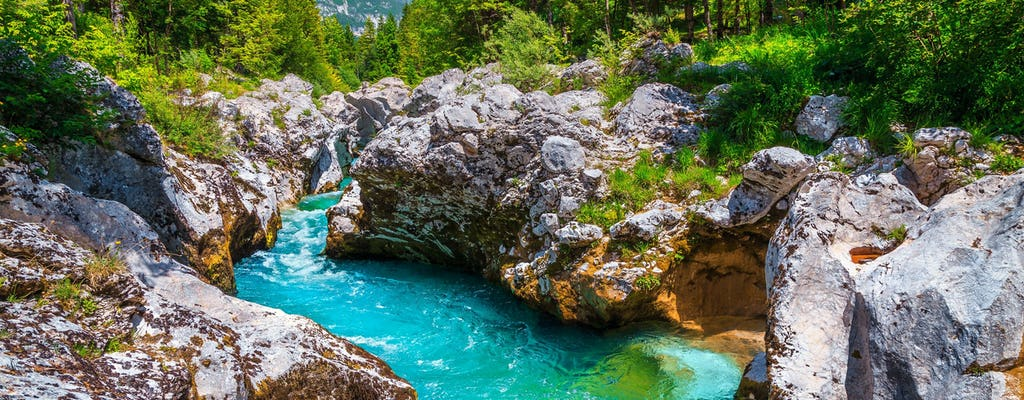 Excursion d'une journée à Emerald River Soca au départ de Ljubljana