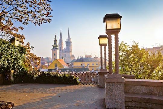 Excursão pela capital croata de Zagreb da costa da Eslovênia