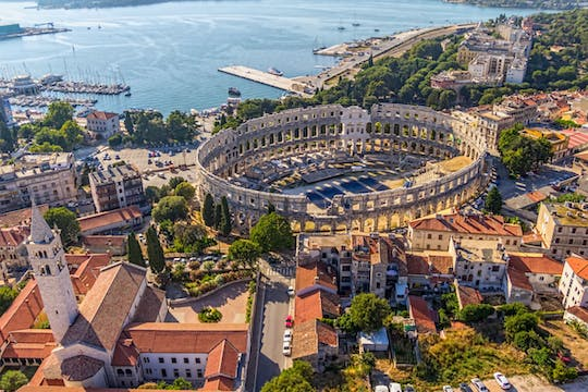 Magic of Istria day trip with Pula Amphitheater from Ljubljana