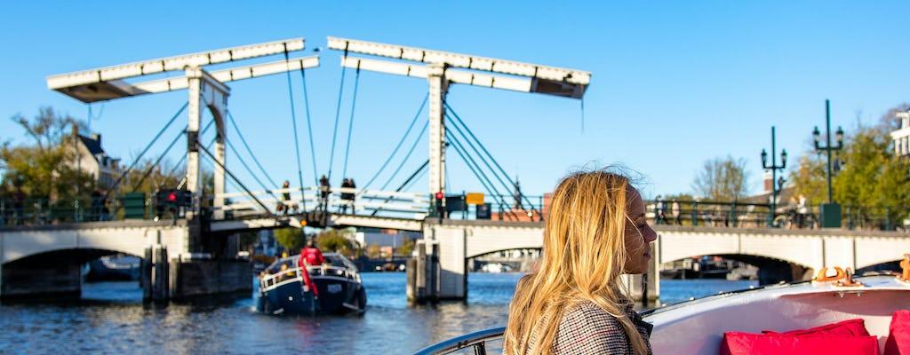 Cómodo y divertido paseo en barco por los canales de Ámsterdam
