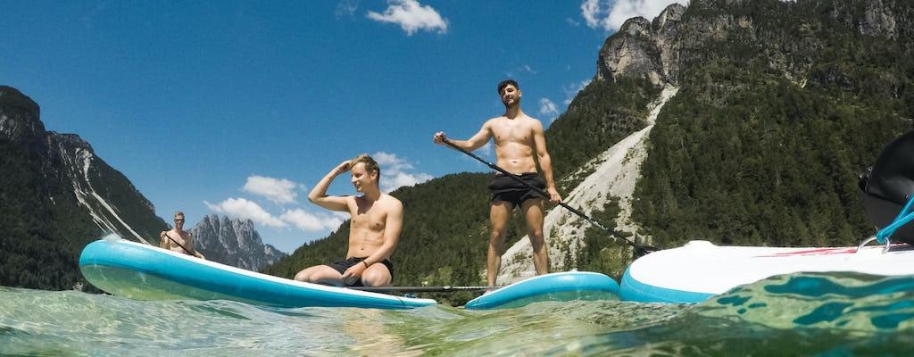 Stand-up paddle-boarding-tour op het meer van Predil vanuit Bovec