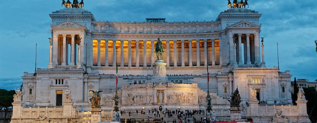 Tour a piedi delle meraviglie di Roma di notte