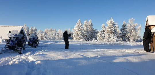 Long (70km) snowmobile safari in Lapland