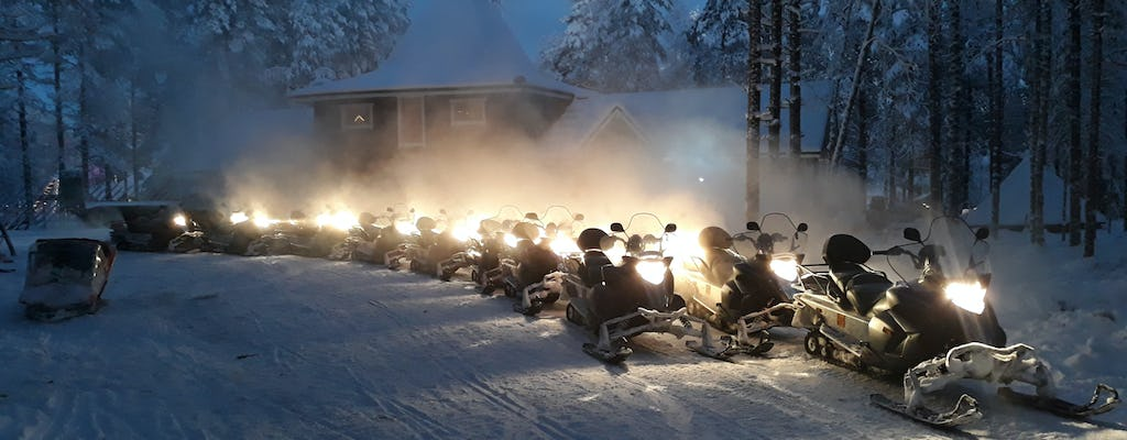 Evening snowmobile safari in Rovaniemi