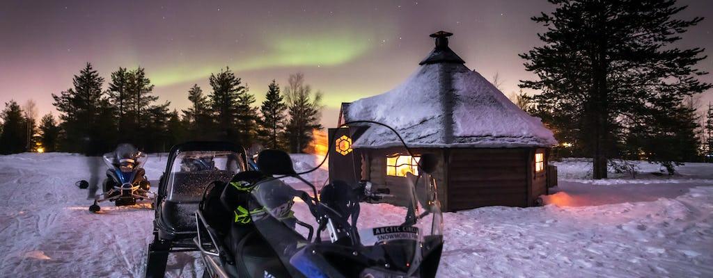 Aurora Borealis Schneemobil Safari und BBQ