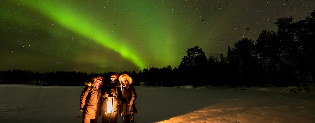 Northern lights hunting by minibus