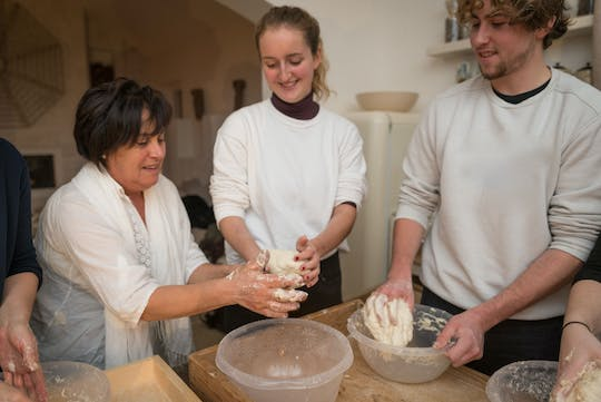 Focaccia, pasta and fresh cheese cooking class with lunch in Ostuni