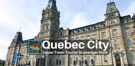 Caça ao tesouro para turistas na cidade alta de Quebec