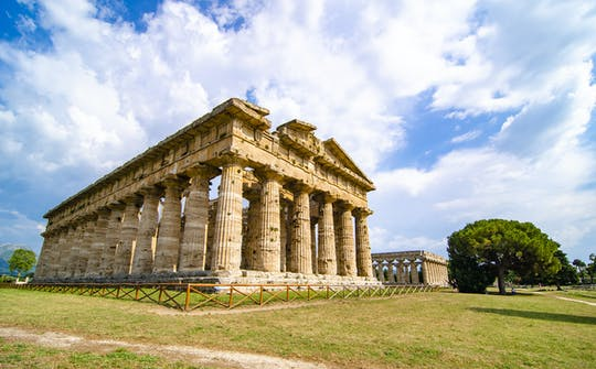 Tour of Paestum with visit to a local farm and pizza stop in Naples