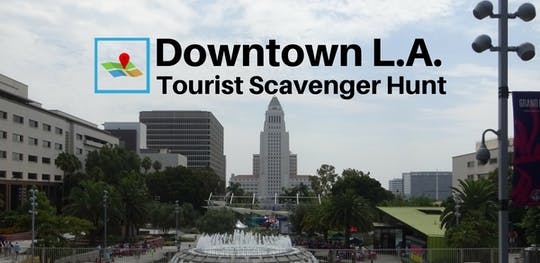 Búsqueda del tesoro turístico en el centro de Los Ángeles