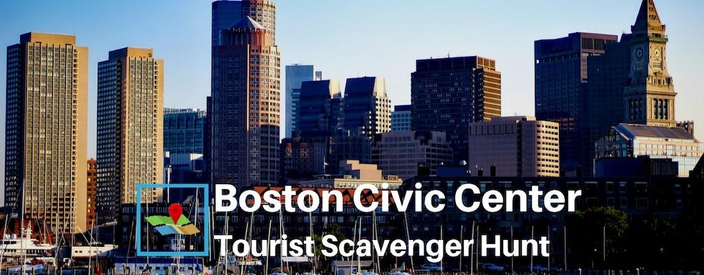 Búsqueda del tesoro para turistas en Boston Civic Center