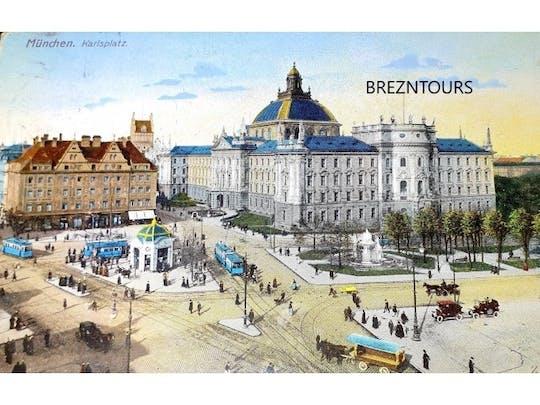 Rikscha-Tour durch München mit Postkarten aus dem 20. Jahrhundert