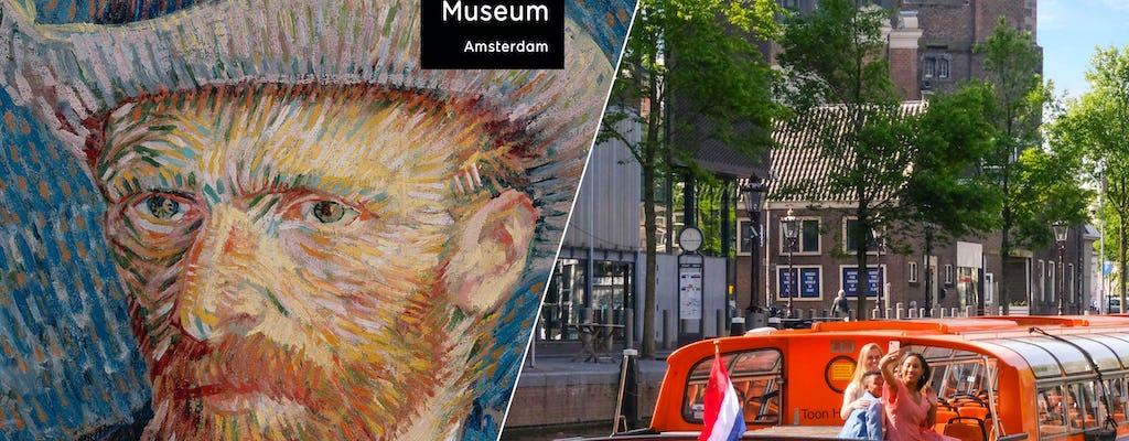 Visita combinada en Ámsterdam con Museo Van Gogh y crucero de 1 hora por los canales