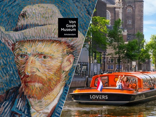Amsterdam Combo with Van Gogh Museum and 1-Hour Canal Cruise
