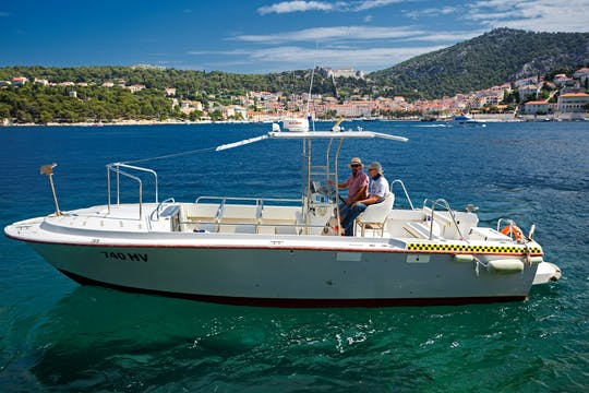 Private speed boat tour to Blue and Green cave from Hvar