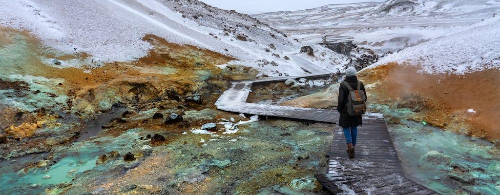 Tour privado ao longo da Península de Reykjanes e da Lagoa Azul